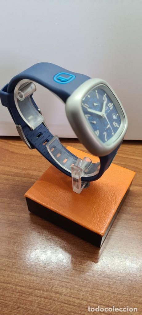 Relojes - Lotus: Reloj caballero acero LOTUS cuarzo crono, esfera azul, calendario las cuatro, correa LOTUS original. - Foto 8 - 253559280
