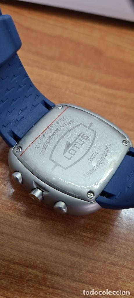 Relojes - Lotus: Reloj caballero acero LOTUS cuarzo crono, esfera azul, calendario las cuatro, correa LOTUS original. - Foto 11 - 253559280