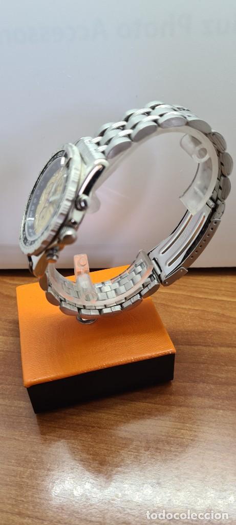 Relojes - Lotus: Reloj caballero (Vintage) TIME FORCE cuarzo cronografo, acero, calendario las tres, correa acero. - Foto 8 - 253561595