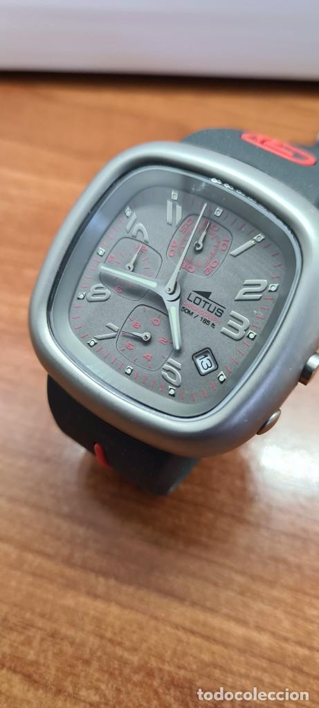 Relojes - Lotus: Reloj caballero acero LOTUS cuarzo crono, esfera gris, calendario las cuatro, correa LOTUS original. - Foto 6 - 253799435
