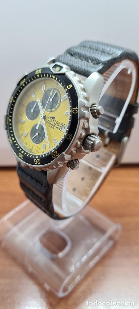Relojes - Lotus: Reloj caballero LOTUS titanio cuarzo cronografo, calendario a las tres, correa cuero original LOTUS - Foto 4 - 253897540