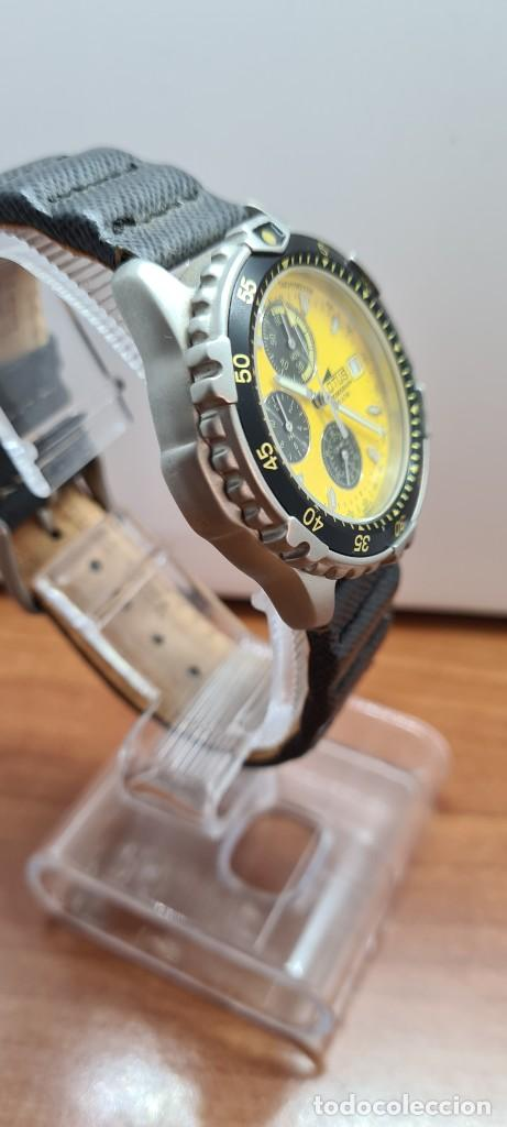 Relojes - Lotus: Reloj caballero LOTUS titanio cuarzo cronografo, calendario a las tres, correa cuero original LOTUS - Foto 7 - 253897540