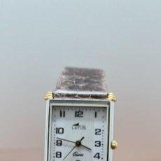 Relojes - Lotus: RELOJ UNISEX CUARZO LOTUS EN ACERO BICOLOR, ESFERA BLANCA, AGUJAS CHAPADAS ORO, CORREA MARRÓN LOTUS. Lote 255417085