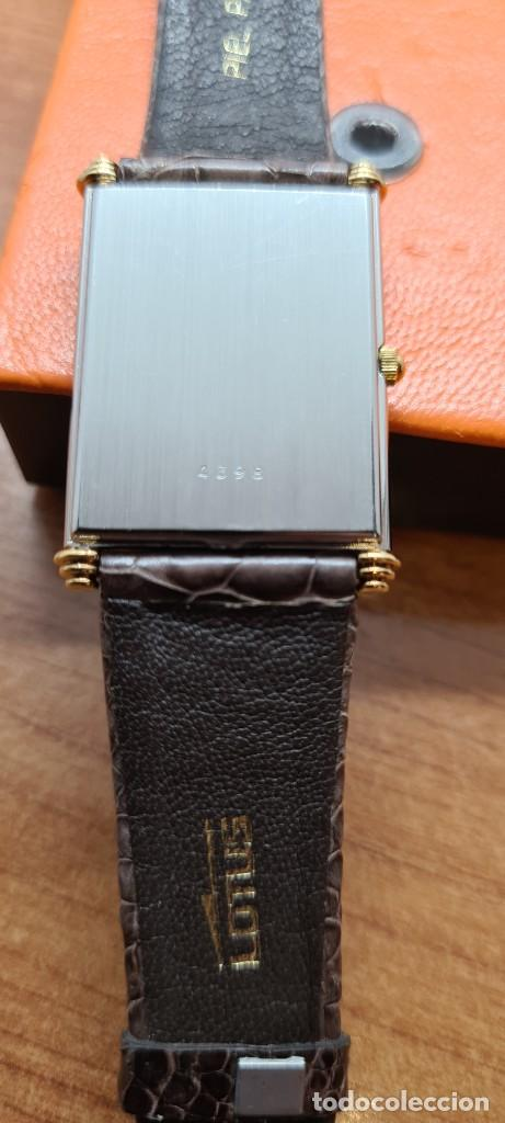 Relojes - Lotus: Reloj unisex cuarzo LOTUS en acero bicolor, esfera blanca, agujas chapadas oro, correa marrón LOTUS - Foto 11 - 255417085