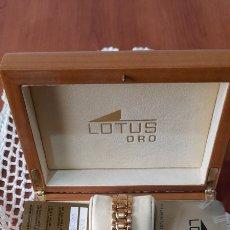 Relojes - Lotus: RELOJ ORO 18K 50 ,9 GR. LOTUS SAPPIRE CRYSTAL . VER FOTOS Y DESCRIPCIÓN. Lote 256135040