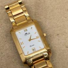Relógios - Lotus: RELOJ LOTUS QUARTZ CHAPADO ORO EN FUNCIONAMIENTO COMO NUEVO. Lote 256156535