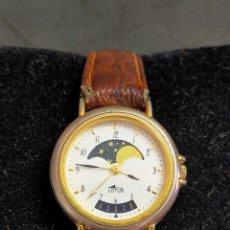 Relógios - Lotus: RELOJ DE PULSERA LOTUS, DE SEÑORA,. CALENDARIO Y CALENDARIO LUNAR. CORREA DE CUERO.. Lote 262418725
