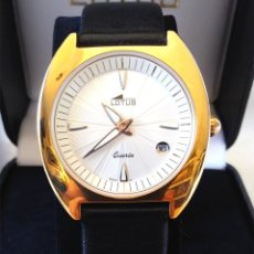 Relojes - Lotus: RELOJ LOTUS VINTAGE, CALENDARIO, PLAQUE ORO, BUEN ESTADO COMO NUEVO, CON ESTUCHE.. Lote 266642523