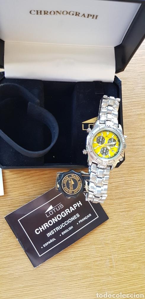 Relojes - Lotus: Reloj Lotus Cronografo,acero,a estrenar - Foto 2 - 285365998