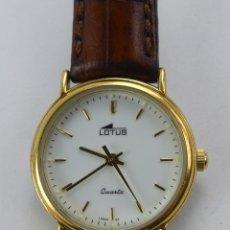 Relojes - Lotus: VINTAGE RELOJ PULSERA QUARTZ LOTUS CHAPADO EN ORO. Lote 285471978