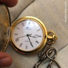 Relojes - Lotus: RELOJ DE BOLSILLO LOTUS QUARTZ CON LEONTINA . EXCELENTE ESTADO Y FUNCIONAMIENTO. Lote 294974518