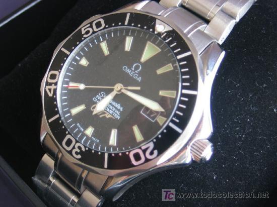 7ee73550876 Omega Seamaster. Adaptación maquinaria original. 41mm. Color Negro.  Precioso Se incluye la Caja.
