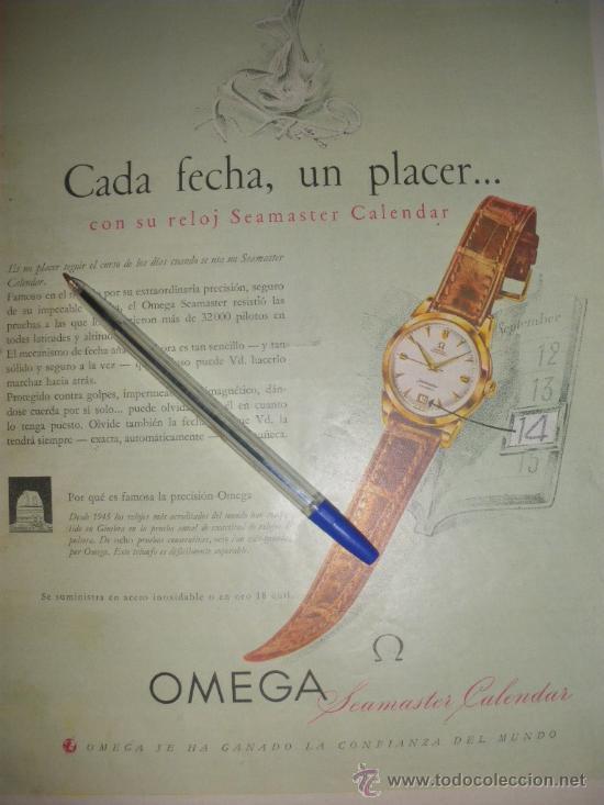 Relojes - Omega: PUBLICIDAD DE RELOJES OMEGA. 13 ANUNCIOS. - Foto 8 - 13804191
