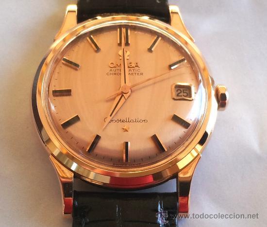 04b67d00e0d7 Reloj de oro omega constellation automatic chro - Vendido en Venta ...