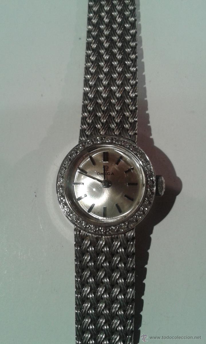 Relojes - Omega: RELOJ JOYA OMEGA ORO BLANCO 18k 750mm. CON DIAMANTES. - Foto 3 - 48076543