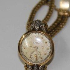 Relojes - Omega: RE287 OMEGA LADY. ORO 18 KT Y BRILLANTES. NECESITA REPARACIÓN. SUIZA. AÑOS 40. Lote 123310544