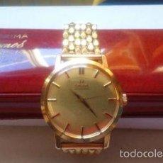 Relojes - Omega: RELOJ MARCA OMEGA, ORO Y PULSERA MACIZA ORO 18K, AUTOMÁTICO. Lote 56095357