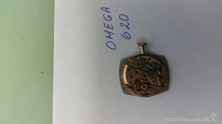 Relojes - Omega: Maquina de cuerda Omega 620 de señora con esfera nueva color plata, punteros y corona funcionando - Foto 2 - 56618927