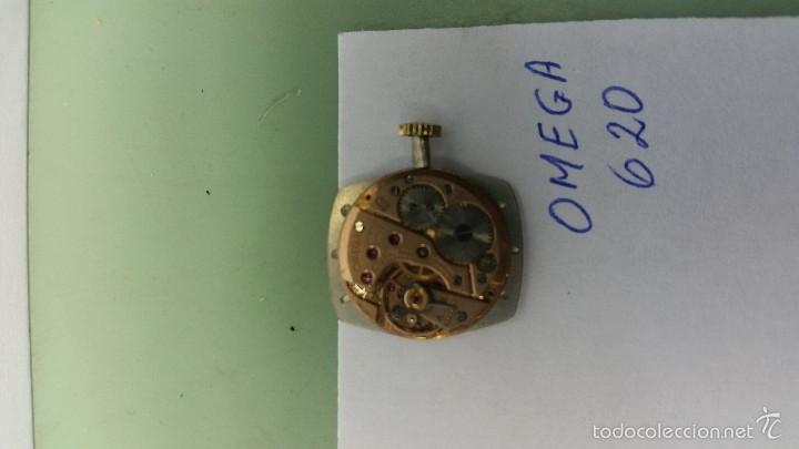 Relojes - Omega: Maquina de cuerda Omega 620 de señora con esfera nueva color plata, punteros y corona funcionando - Foto 3 - 56618927