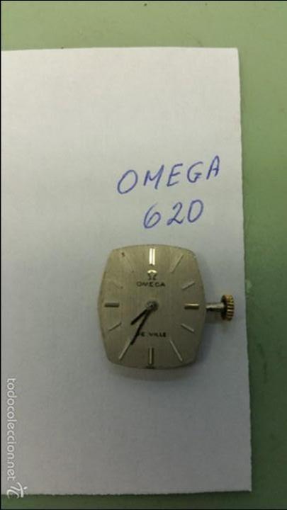 MAQUINA DE CUERDA OMEGA 620 DE SEÑORA CON ESFERA NUEVA COLOR PLATA, PUNTEROS Y CORONA FUNCIONANDO (Relojes - Relojes Actuales - Omega)