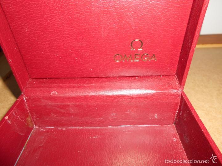 Relojes - Omega: ELEGANTE CAJA RELOJ OMEGA COLOR ROJO TAMAÑO GRANDE CONSTELLATION AÑOS 60 TAMAÑ - Foto 2 - 60008455