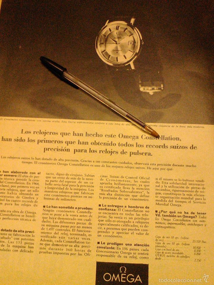 Relojes - Omega: PUBLICIDAD DE RELOJES OMEGA. 13 ANUNCIOS. - Foto 10 - 13804191