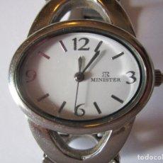 Relojes - Omega: RELOJ DE PULSERA DE SEÑORA MINISTER VINTAGE QUARTZ ACERO FUNCIONANDO. Lote 61808736