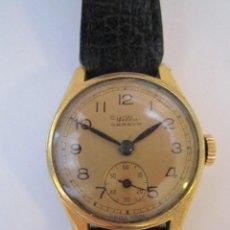 Relojes - Omega: RELOJ SUPER RETRO MUJER WILKA CHAPADO EN ORO 22MM.UNCIONANDO. Lote 61996532