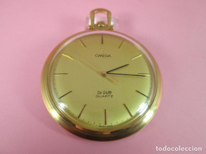 RELOJ-SUIZO-OMEGA DE VILLE QUARTZ-CALIBRE 1342-PLAQUÉ ORO 20 MICRAS-47X57 MM-CONTRASTES-VER FOTOS. (Relojes - Relojes Actuales - Omega)