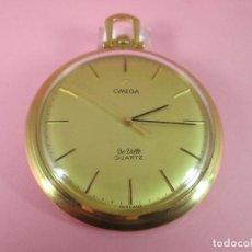 Relojes - Omega: RELOJ-SUIZO-OMEGA DE VILLE QUARTZ-CALIBRE 1342-PLAQUÉ ORO 20 MICRAS-47X57 MM-CONTRASTES-VER FOTOS.. Lote 65761586