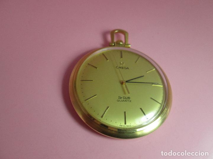 Relojes - Omega: RELOJ-SUIZO-OMEGA DE VILLE QUARTZ-CALIBRE 1342-PLAQUÉ ORO 20 MICRAS-47x57 MM-CONTRASTES-VER FOTOS. - Foto 2 - 65761586