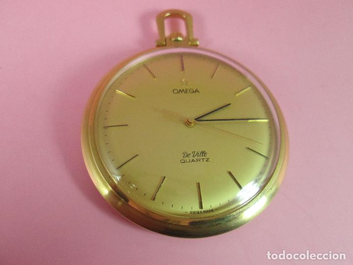 Relojes - Omega: RELOJ-SUIZO-OMEGA DE VILLE QUARTZ-CALIBRE 1342-PLAQUÉ ORO 20 MICRAS-47x57 MM-CONTRASTES-VER FOTOS. - Foto 3 - 65761586