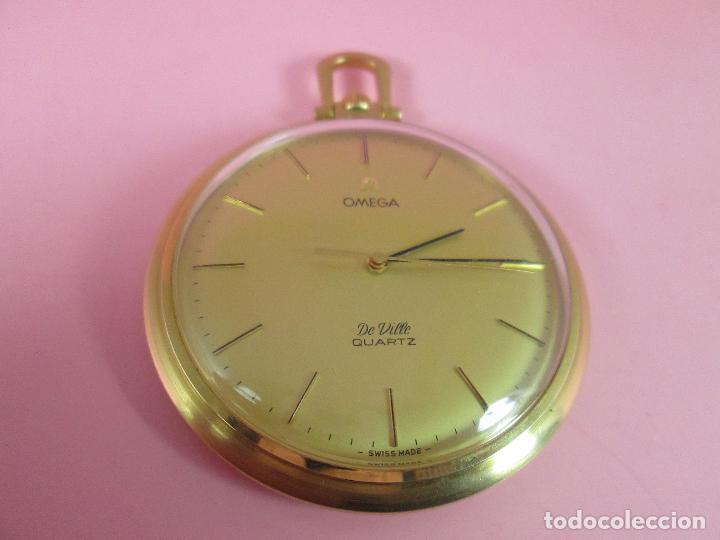 Relojes - Omega: RELOJ-SUIZO-OMEGA DE VILLE QUARTZ-CALIBRE 1342-PLAQUÉ ORO 20 MICRAS-47x57 MM-CONTRASTES-VER FOTOS. - Foto 4 - 65761586