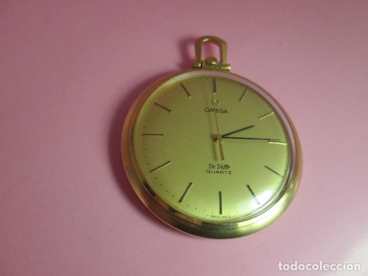 Relojes - Omega: RELOJ-SUIZO-OMEGA DE VILLE QUARTZ-CALIBRE 1342-PLAQUÉ ORO 20 MICRAS-47x57 MM-CONTRASTES-VER FOTOS. - Foto 5 - 65761586