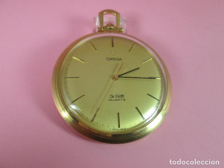 Relojes - Omega: RELOJ-SUIZO-OMEGA DE VILLE QUARTZ-CALIBRE 1342-PLAQUÉ ORO 20 MICRAS-47x57 MM-CONTRASTES-VER FOTOS. - Foto 6 - 65761586