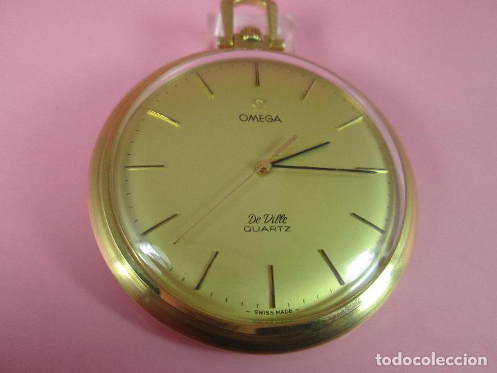 Relojes - Omega: RELOJ-SUIZO-OMEGA DE VILLE QUARTZ-CALIBRE 1342-PLAQUÉ ORO 20 MICRAS-47x57 MM-CONTRASTES-VER FOTOS. - Foto 7 - 65761586