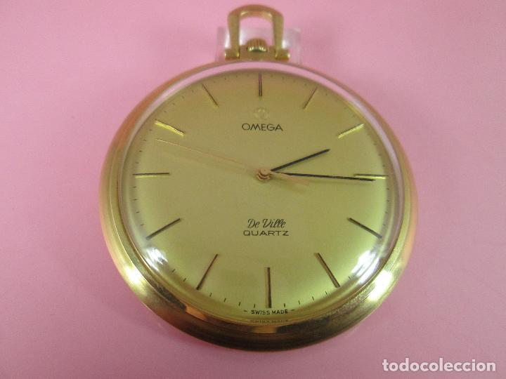 Relojes - Omega: RELOJ-SUIZO-OMEGA DE VILLE QUARTZ-CALIBRE 1342-PLAQUÉ ORO 20 MICRAS-47x57 MM-CONTRASTES-VER FOTOS. - Foto 9 - 65761586