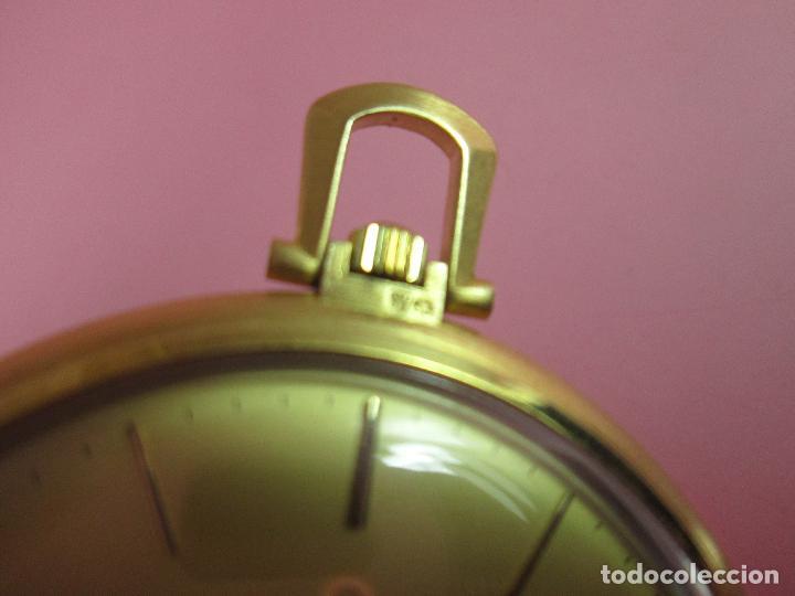 Relojes - Omega: RELOJ-SUIZO-OMEGA DE VILLE QUARTZ-CALIBRE 1342-PLAQUÉ ORO 20 MICRAS-47x57 MM-CONTRASTES-VER FOTOS. - Foto 10 - 65761586