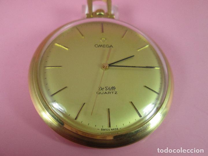 Relojes - Omega: RELOJ-SUIZO-OMEGA DE VILLE QUARTZ-CALIBRE 1342-PLAQUÉ ORO 20 MICRAS-47x57 MM-CONTRASTES-VER FOTOS. - Foto 15 - 65761586
