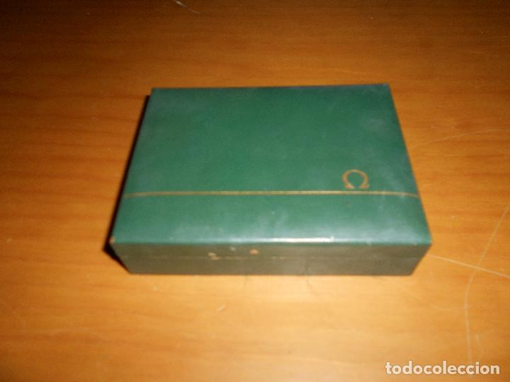 Relojes - Omega: Caja Madera para reloj omega original vintage años 60 70 coló verde - Foto 2 - 214187643