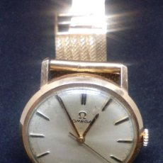 Relojes - Omega: RELOJ OMEGA CABALLERO DE ORO CADENA DE ORO FUNCIONA. Lote 98203343