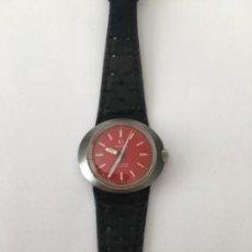 Relojes - Omega: RELOJ OMEGA GENEVE DINAMIC EN ESFERA ROJA MÁS RARO PAR COLECCIONISTAS EN FUNCIONAMIENTO. Lote 112492175