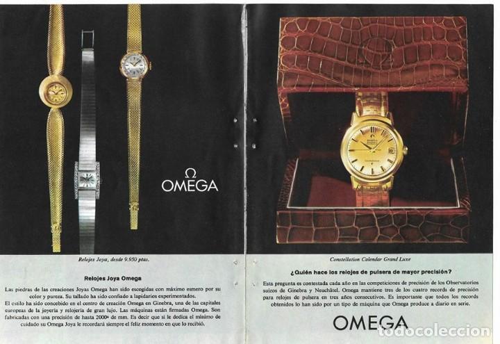 PUBLICIDAD 1962 HOJA REVISTA ANUNCIO CATÁLOGO RELOJES OMEGA - 4 HOJAS (Relojes - Relojes Actuales - Omega)
