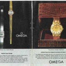Relojes - Omega: PUBLICIDAD 1962 HOJA REVISTA ANUNCIO CATÁLOGO RELOJES OMEGA - 4 HOJAS. Lote 114522387