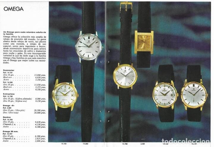 Relojes - Omega: PUBLICIDAD 1962 HOJA REVISTA ANUNCIO CATÁLOGO RELOJES OMEGA - 4 HOJAS - Foto 3 - 114522387