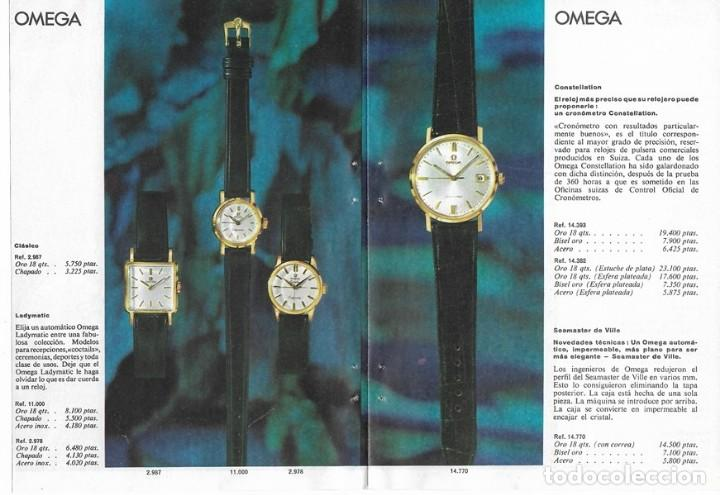 Relojes - Omega: PUBLICIDAD 1962 HOJA REVISTA ANUNCIO CATÁLOGO RELOJES OMEGA - 4 HOJAS - Foto 4 - 114522387