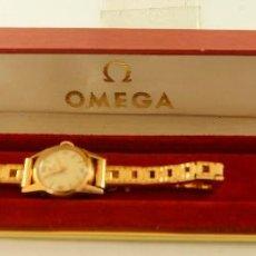 Relojes - Omega: OMEGA DE COCKTAIL MECANICO CHAPADO EN ORO CON CAJA ORIGINAL FUNCIONANDO. Lote 119120323