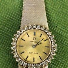 Relojes - Omega: RELOJ-JOYA OMEGA DEVILLE. ORO BLANCO 18K Y DIAMANTES. ESPAÑA. CIRCA 1965. Lote 119865643