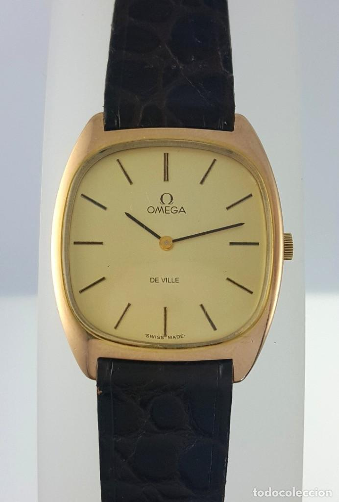 OMEGA DE VILLE PLAQUE ORO 18KT.CABALLERO¡¡NUEVO!! (Relojes - Relojes Actuales - Omega)