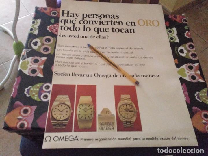 ANTIGUO ANUNCIO PUBLICIDAD REVISTA AÑOS 70 RELOJ ORO OMEGA REVERSO WHISKY OLD SMUGGLER OSBORNE (Relojes - Relojes Actuales - Omega)